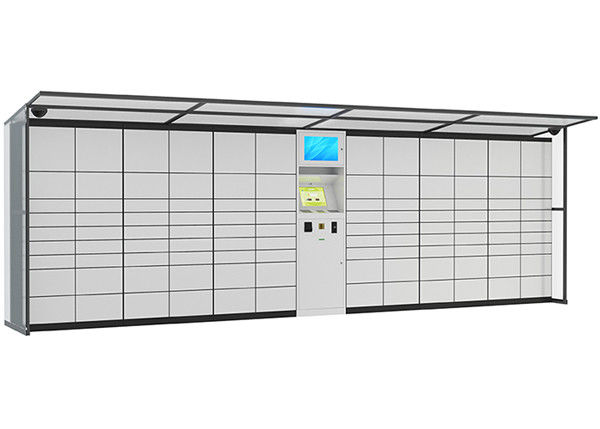Intelligent Logistic Parcel Delivery Lockers , SMS Sending System Coin Operated Lockers